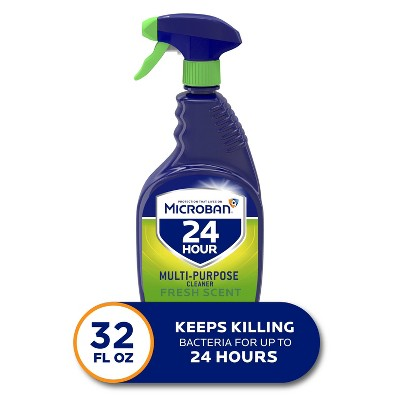Microban 24 Hour Multi-Purpose Cleaner and Disinfectant Spray, Fresh Scent - 32 fl oz