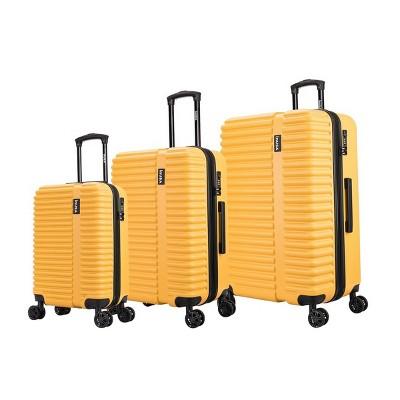 InUSA Ally Lightweight Hardside Spinner 3pc Luggage Set - Mustard