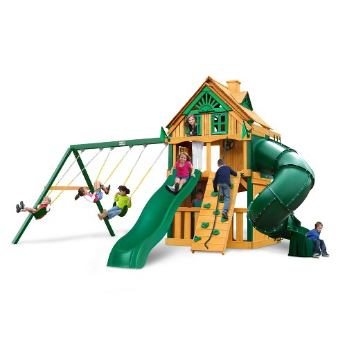 Gorilla Playsets Mountaineer Clubhouse Treehouse with Fort Add-On & Timber Shield - image 1 of 3