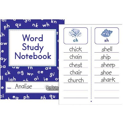 Primary Concepts Word Study Notebook, Grades 1 - 3, pk of 20