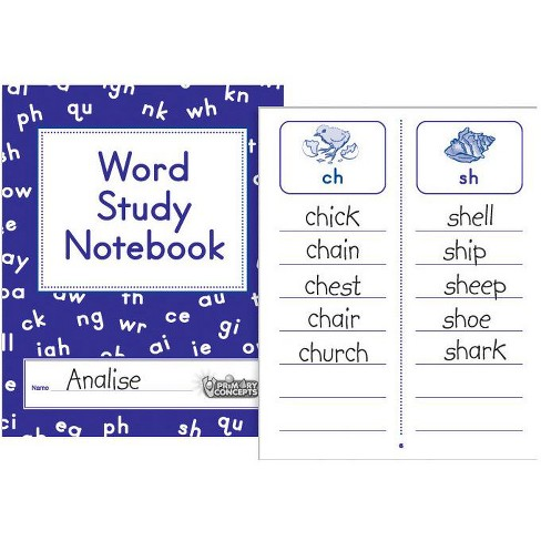 Primary Concepts Word Study Notebook, Grades 1 - 3, pk of 20 - image 1 of 1