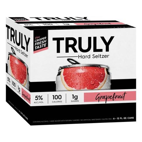 Truly Hard Seltzer Grapefruit - 6pk/12 fl oz Cans - image 1 of 4