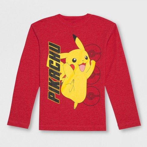 c3d73ca4 Boys' Pokemon Pikachu Long Sleeve Graphic T-Shirt - Red : Target