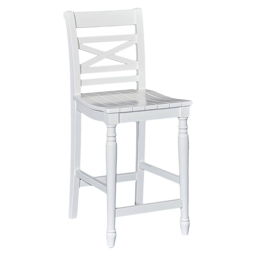 "Image of ""24.25"""" Bristol Counter Stool White - Powell Company"""