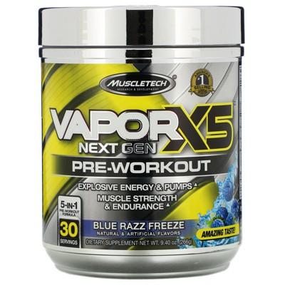 Muscletech VaporX5, Next Gen Pre-Workout Sport Nutrition Supplement, Powder