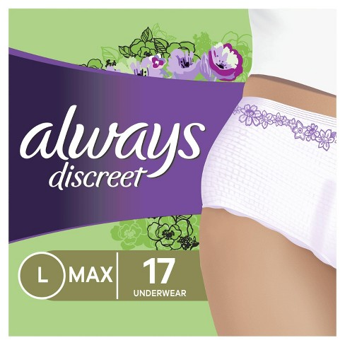 Always Discreet Maximum Absorbency Large Incontinence & Postpartum Underwear - image 1 of 4