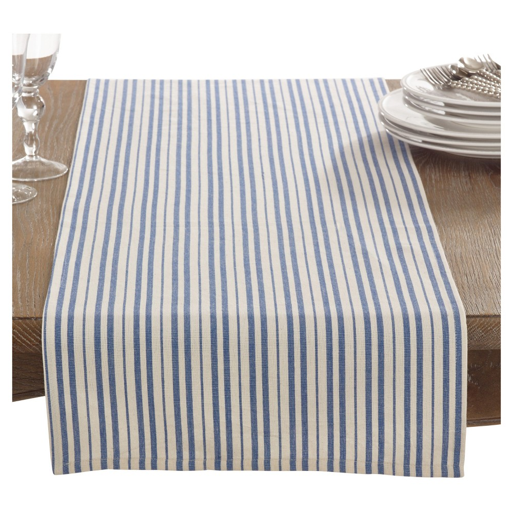 Blue Dauphine Striped Design Table Runner (16