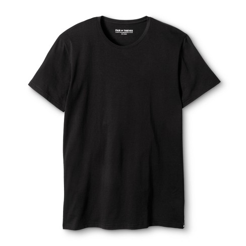 Pair of Thieves® Men's Crew Neck Undershirt - Black - image 1 of 2