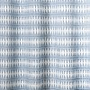 Wood Block Ogee Print With Embroidery Shower Curtain Blue - Opalhouse™ - image 3 of 3