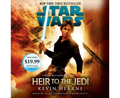 Heir to the Jedi -  Unabridged (Star Wars) by Kevin Hearne (CD/Spoken Word) - image 1 of 1