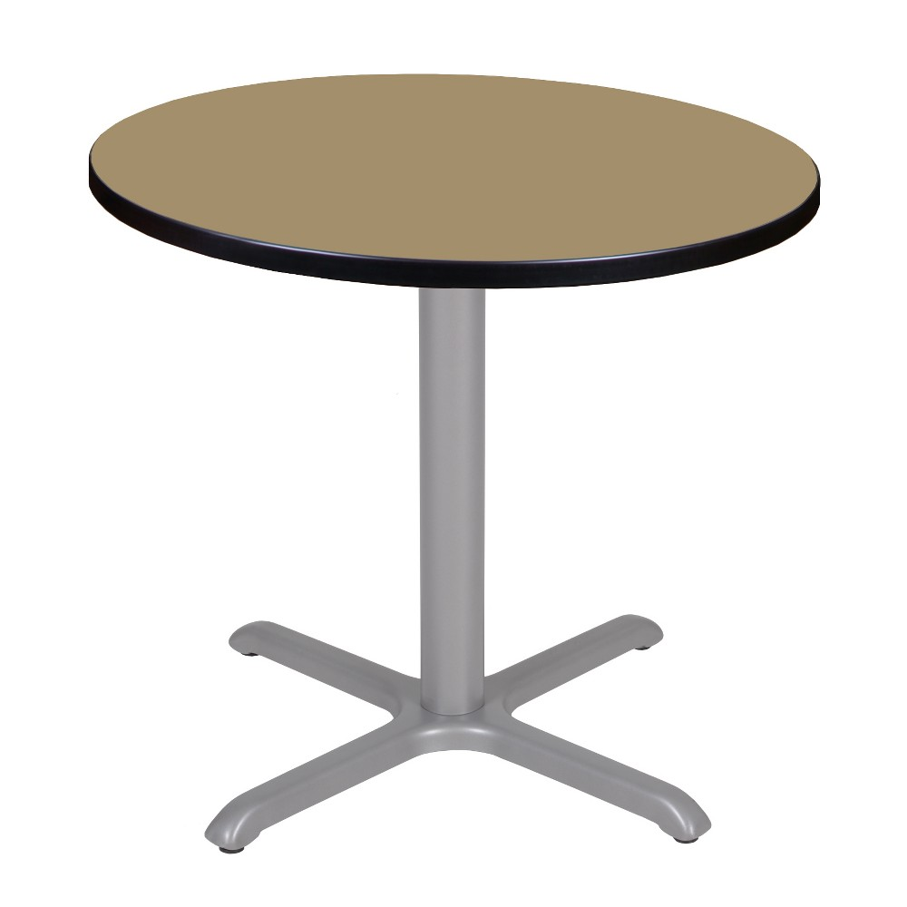 30 Via Round X - Base Table Gold/Gray - Regency