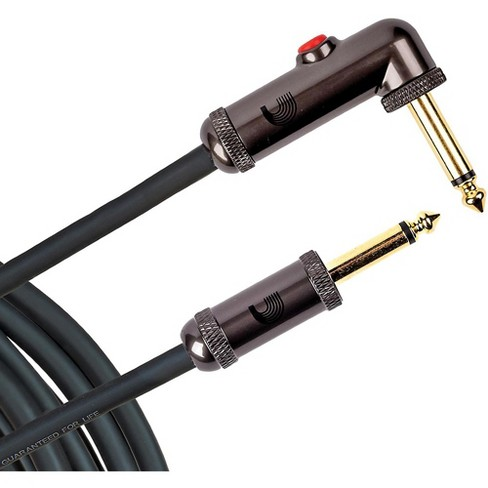 D'Addario Planet Waves Circuit Breaker Instrument Cable with Latching Cut-Off Switch, Right Angle Plug, by D'Addario - image 1 of 4