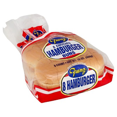 Franz Hamburger Buns - 15oz/8ct