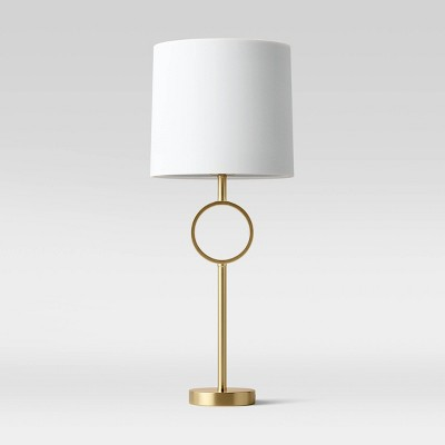 Large Metal Ring Table Lamp (Includes LED Light Bulb)Brass - Project 62™