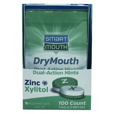 SmartMouth Dry Mouth Action Dry Mouth Relief Mints - 100ct