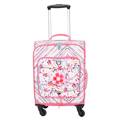 "Crckt 18"" Kids' Spinner Carry On Suitcase - Chevron"