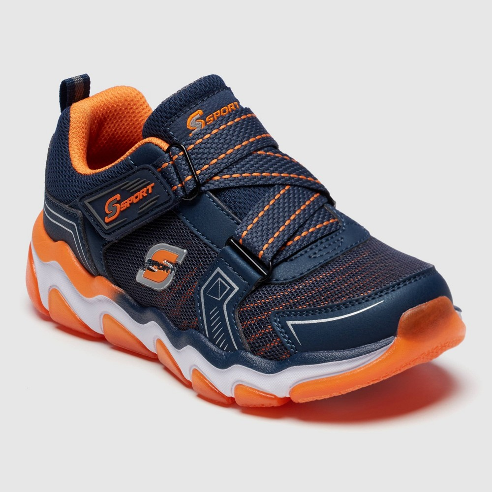 Image of Boys' S Sport by Skechers Orion Performance Athletic Shoes - Navy 4, Boy's, Orange White Blue