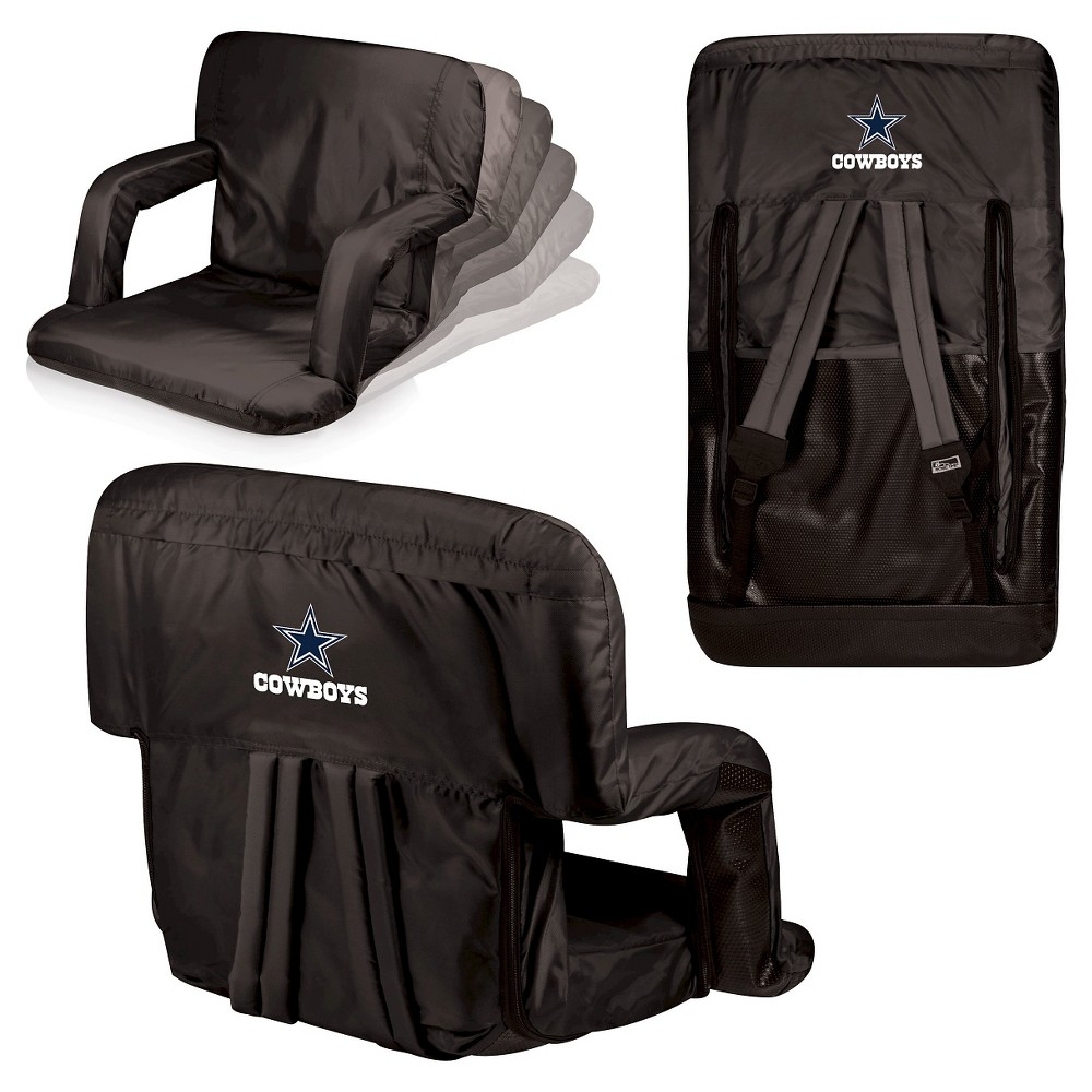 Dallas Cowboys Ventura Seat Portable Recliner Chair By Picnic Time
