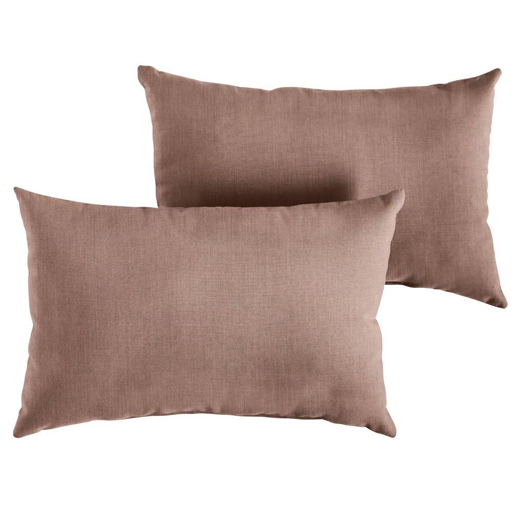 2pk 13 34 X20 34 Sunbrella Outdoor Throw Pillows Pink