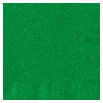 50ct Green Cocktail Beverage Napkin