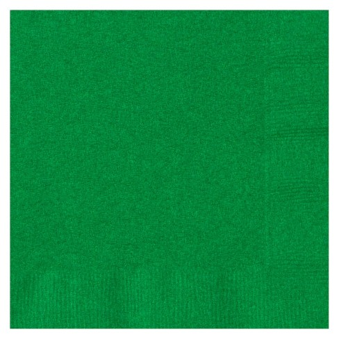 50ct Green Cocktail Beverage Napkin - image 1 of 1
