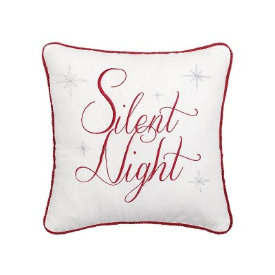 "C&F Home 18"" x 18"" Silent Night Embroidered Pillow"