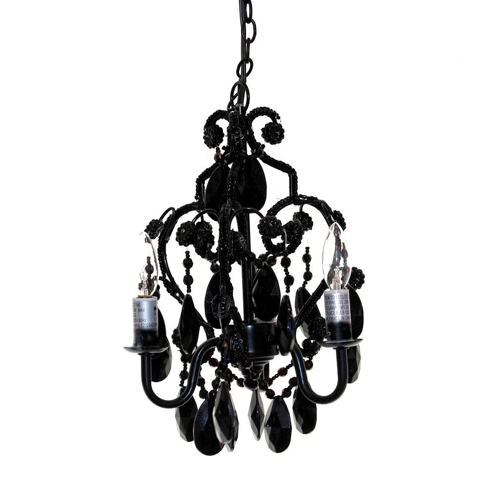 Image of Tadpoles 3 Bulb Mini Chandelier Black