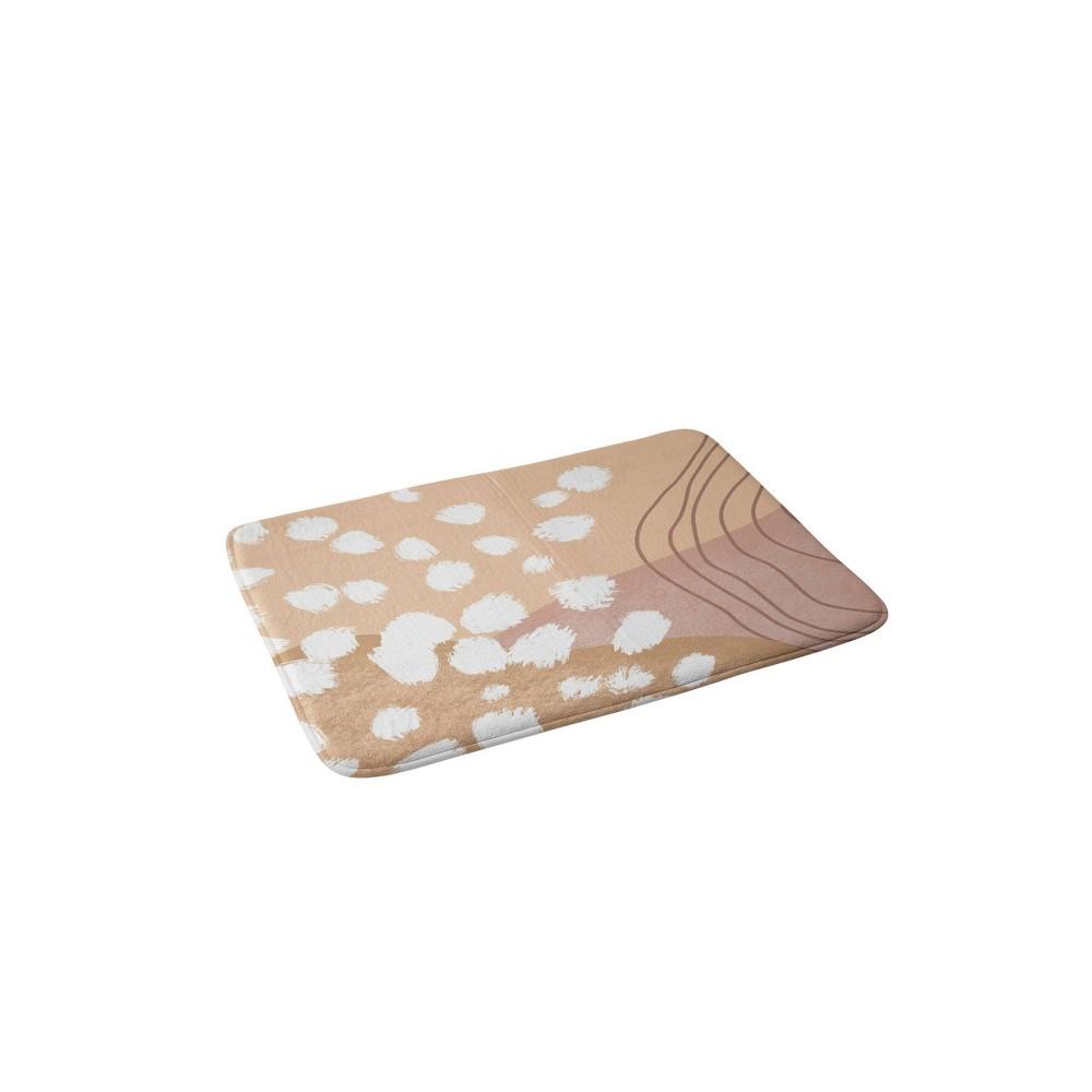 Aleeya Jones Modern Abstract Nudes Memory Foam Bath Mat Beige Deny Designs