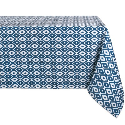 84 x60  Ikat Outdoor Tablecloth Blue - Design Imports