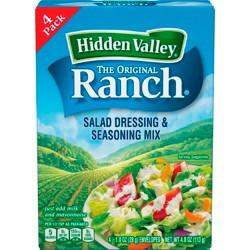 Hidden Valley Original Ranch Salad Dressing & Seasoning Mix - Gluten Free - 4 Pouches