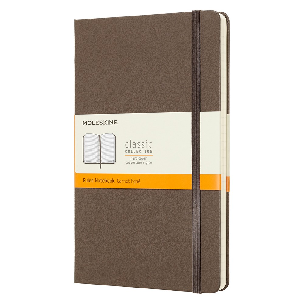 Moleskine Lined Journal Large - Brown Hardcover