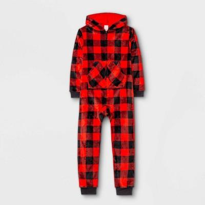 Kids' Buffalo Check Wearable Blanket - Cat & Jack™ Red