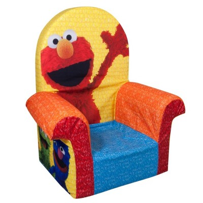 Marshmallow Furniture Comfy Foam Toddler Chair Kid's Furniture For Ages 2 Years Old And Up, Friendly Elmo Themed : Target