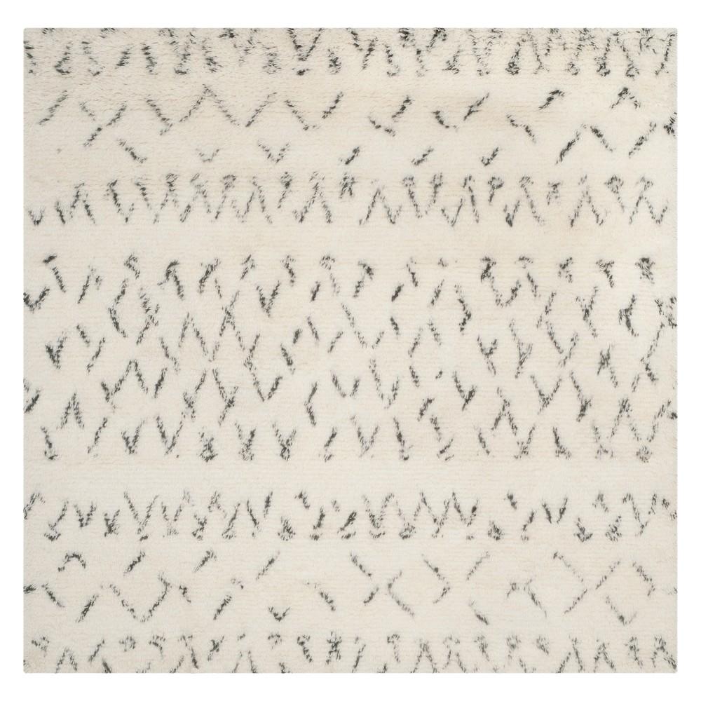 6X6 Geometric Design Square Area Rug Ivory/Gray - Safavieh Reviews
