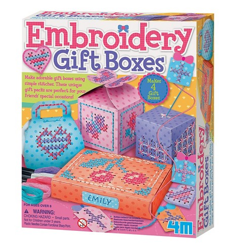 4M Make Your Own Embroidery Gift Boxes Craft Kit - image 1 of 1