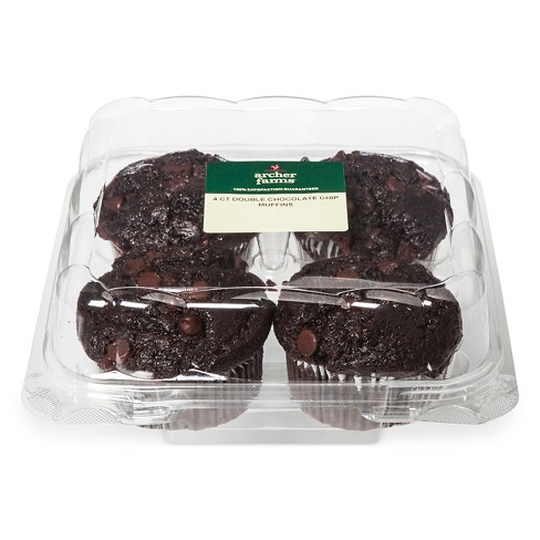 Double Chocolate Chip Muffins - 4ct/16oz - Archer Farms™ - image 1 of 1