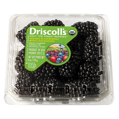 Driscoll's Organic Blackberries - 6oz Package
