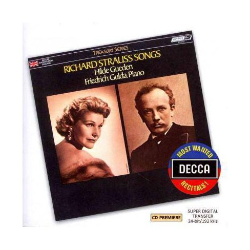 Strauss - Most Wanted Recitals!: Richard Strauss Songs (CD) - image 1 of 1