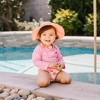 i play by green sprouts Baby Girls' Floral Reversible Brim Swim Hat -  White /Coral - image 3 of 4