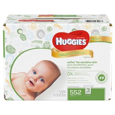 Huggies Natural Care Wipes 9pk - 552ct