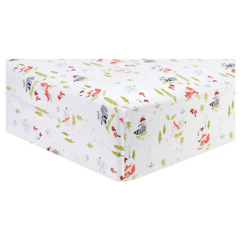 Trend Lab Deluxe Flannel Fitted Crib Sheet - Winter Woods - image 1 of 2