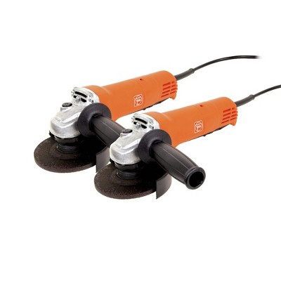 Fein 69908107040 WSG 7-115 2-Tool 4-1/2 in. 820W Compact Paddle Switch Angle Grinder Set