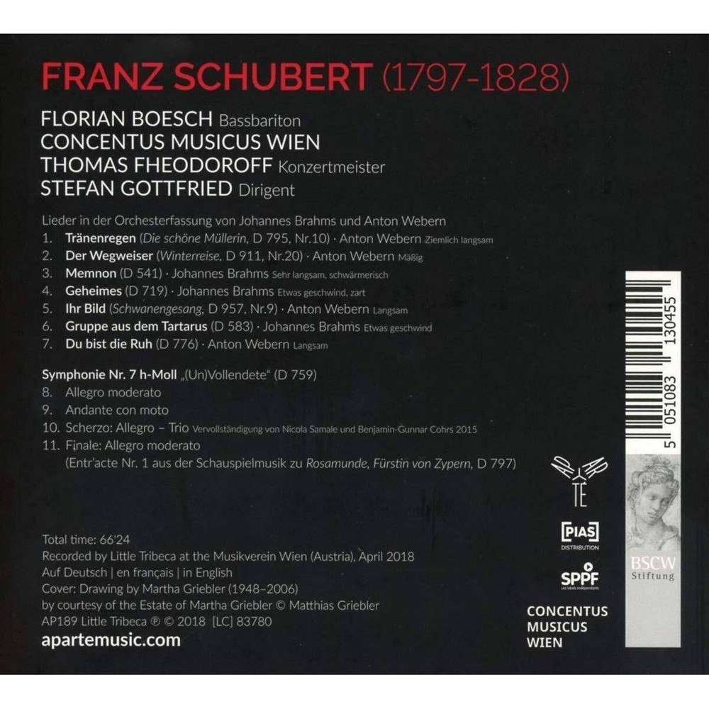 Concentus Musicus Wien Schubert Unfinished Symphony Lieder Cd