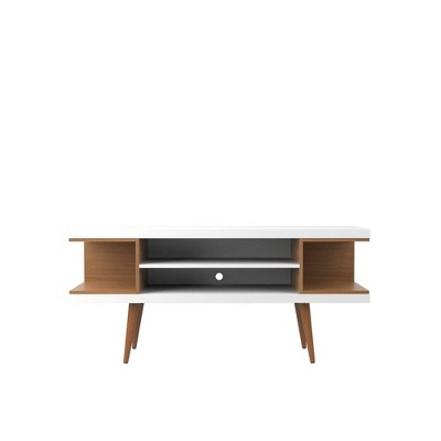 "53.14"" Utopia TV Stand with Splayed Wooden Legs and 4 Shelves - Manhattan Comfort"