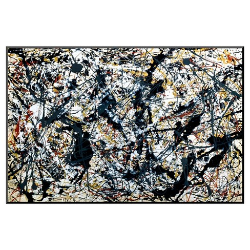 Art.com Silver On Black by Jackson Pollock - Mounted Print - image 1 of 2