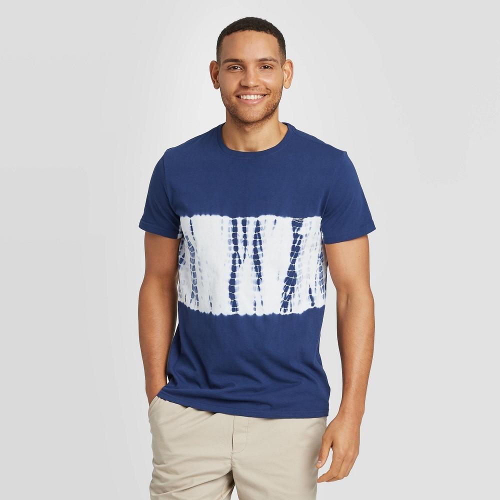 Men 39 S Tie Dye Regular Fit Short Sleeve Novelty Crew Neck T Shirt Goodfellow 38 Co 8482 Midnight Blue L