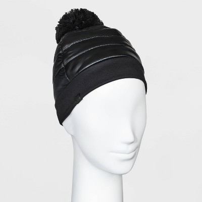 Women's Puffer Beanie - All in Motion™ Black One Size