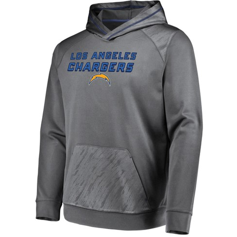 922e4ba61 NFL Los Angeles Chargers Men's Geo Fuse Gray Embossed Performance Hoodie