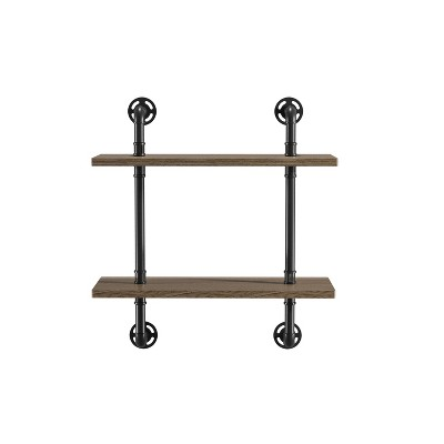 Dylan 2 Layer Floating Shelves Natural - ioHOMES