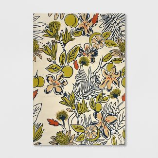 5' x 7' Party Floral Outdoor Rug Citron - Opalhouse™